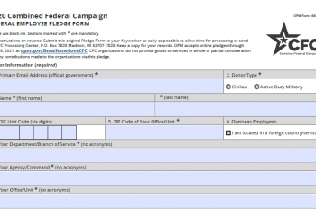 Federal Employee Pledge Form